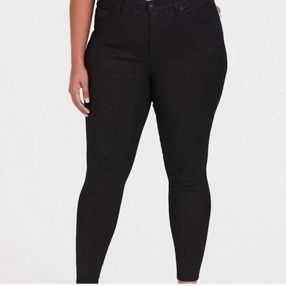 Torrid Black Shimmer Skinny Jeans